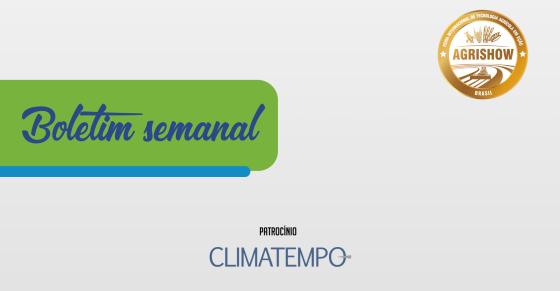 Boletim Semanal - ClimaTempo e Agrishow 19-07-21